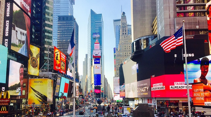 Times Square in New York city, USA