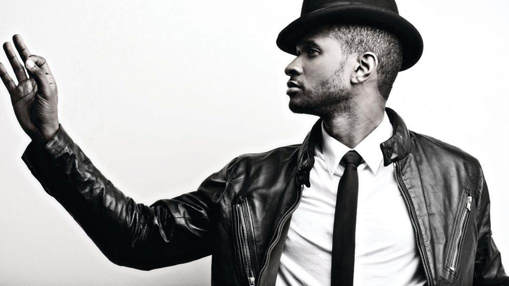 Usher black and white