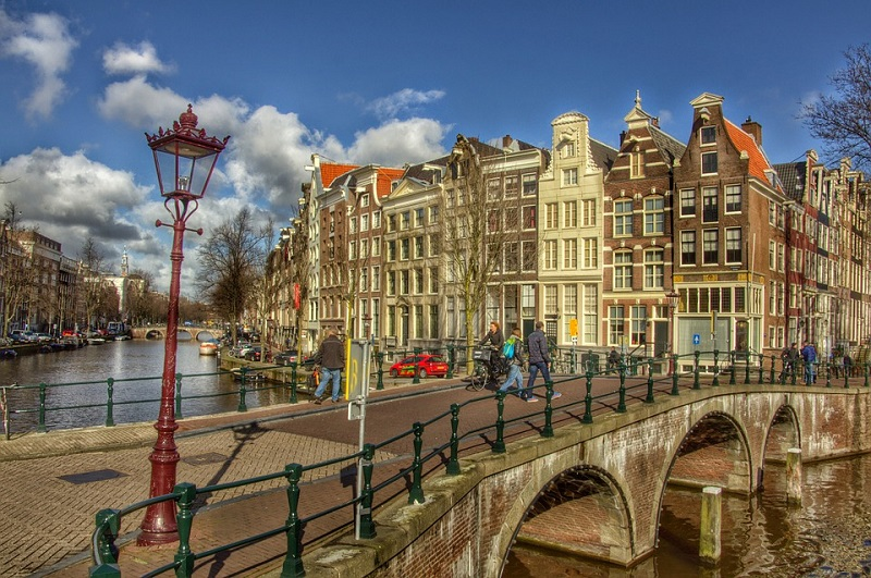 Keizersgracht canal in Netherlands