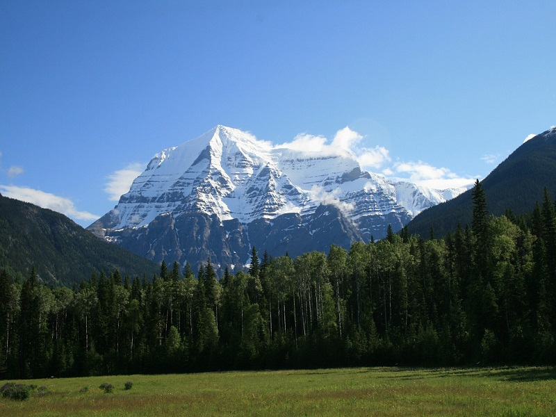 Photo of the most prominent peak in the Canadian Rockies