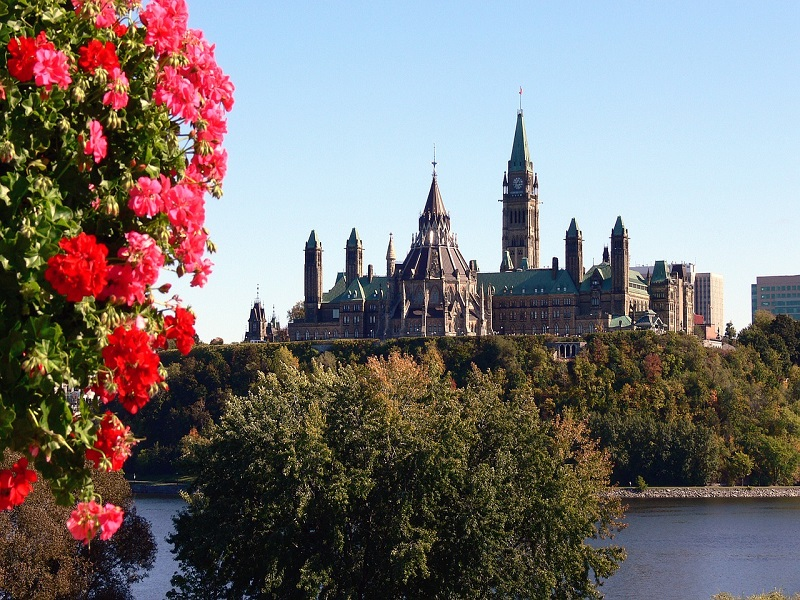 Photo of Parliament Hill in Ottawa, Canada