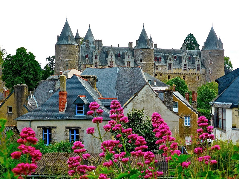 Photo of medieval architecture in France