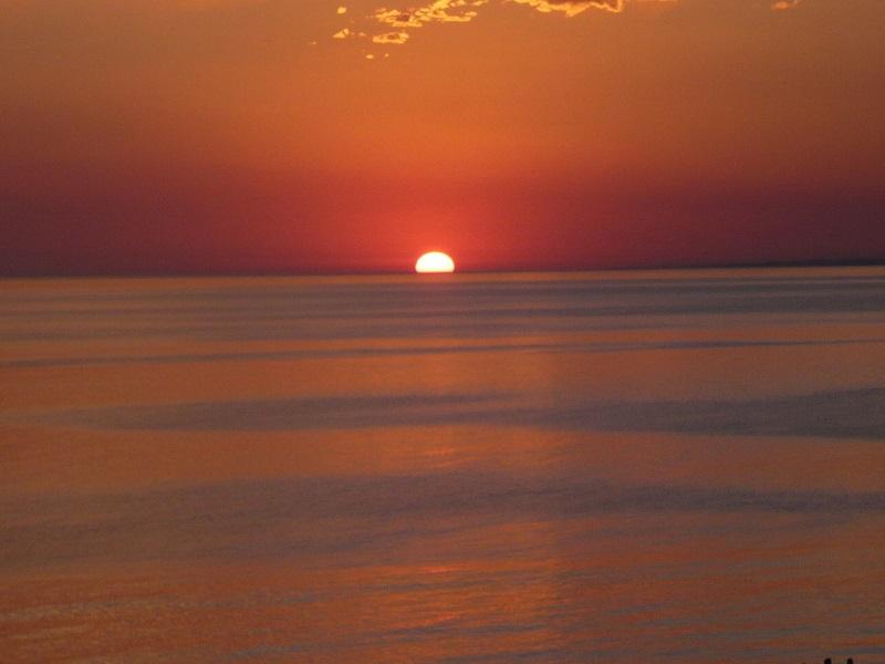 Sun setting in Uruguay image