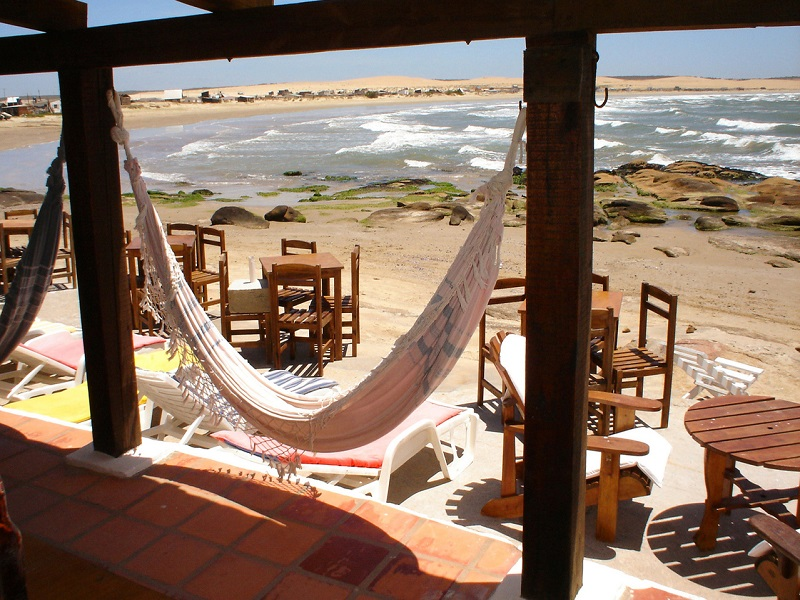 View from the seaside restaurant in Uruguay