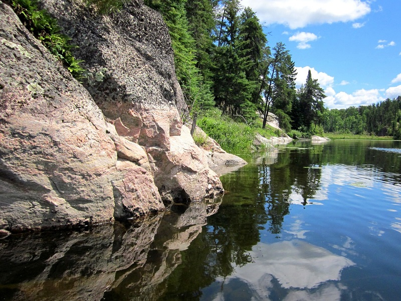 Photo of Canadian Shield landscape and Lake of the Woods