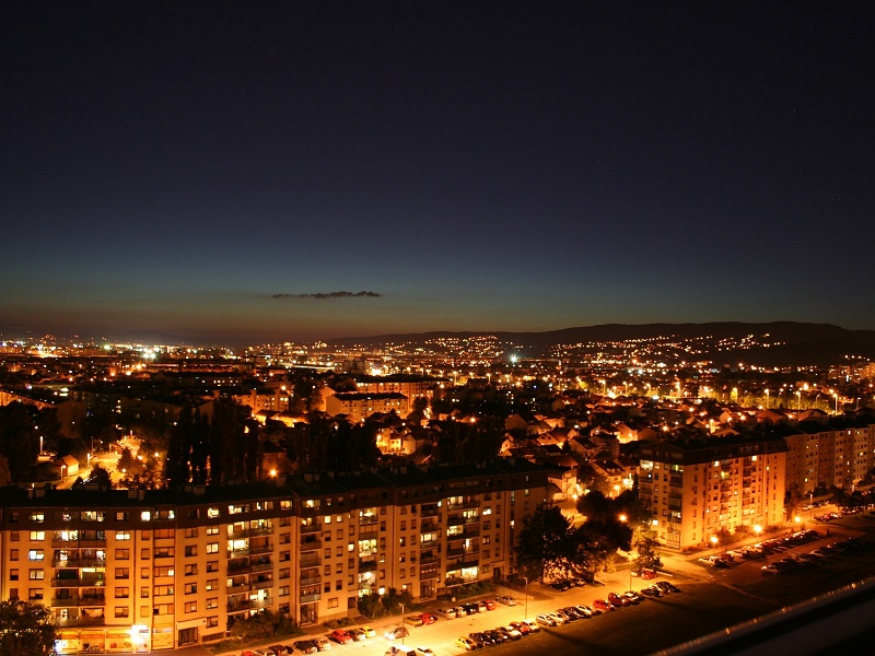Photo of Zagreb in the night