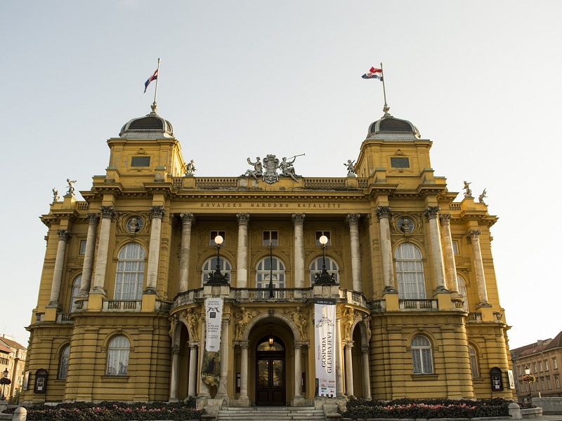 Front picture of National Theater in Zagreb
