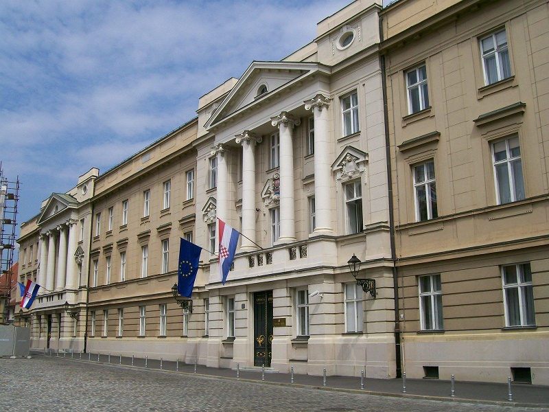 Image of Parliament Palace in Zagreb