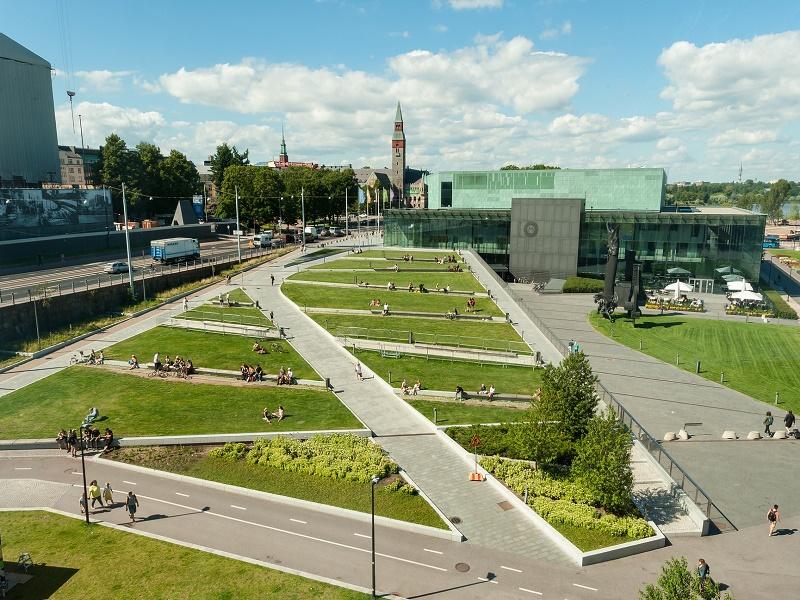 Aerial view of Helsinki's gardens