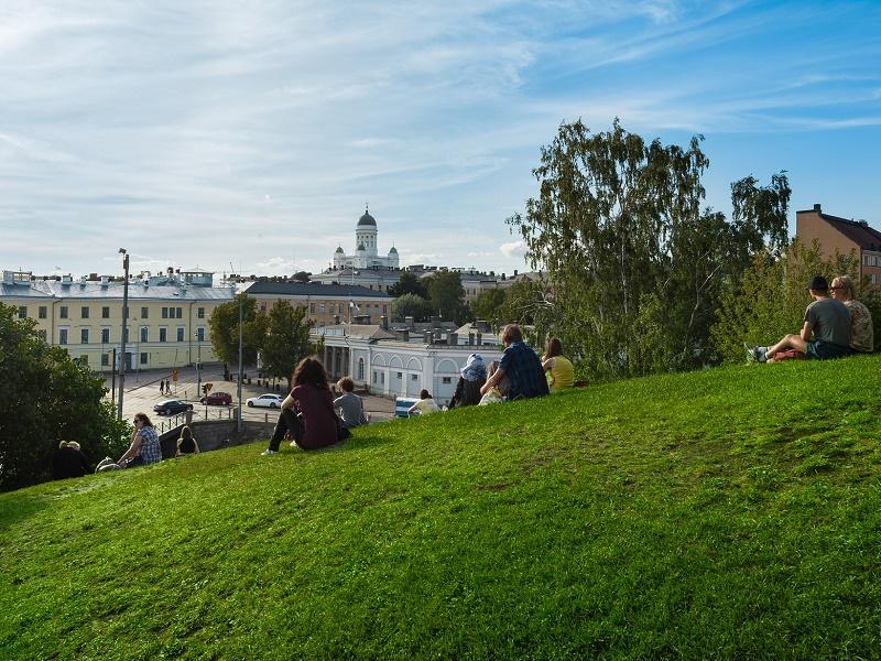Image of people relaxing in Helsinki