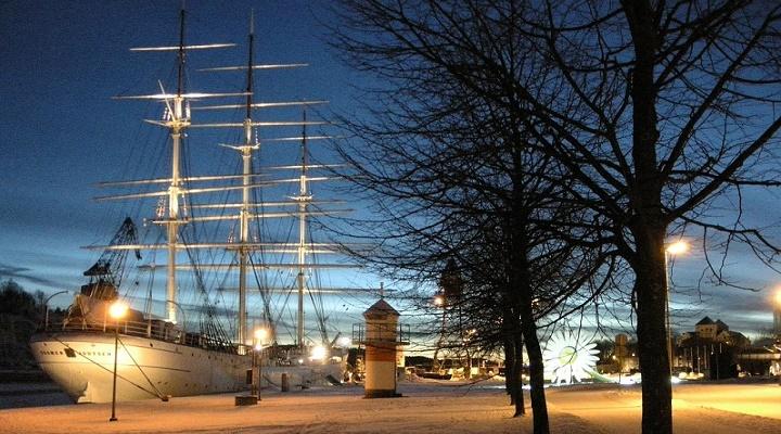 Photo of Turku in the night