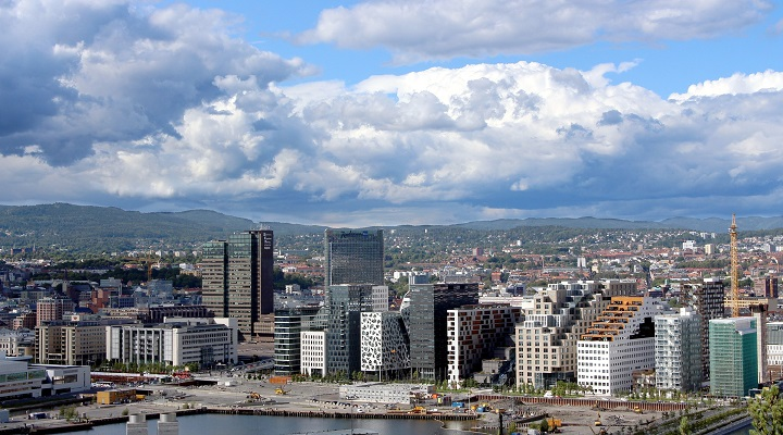 Image of Oslo from air