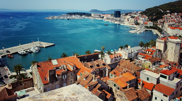 Aerial photo of Split, Croatia