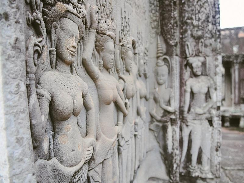 Photo of Angkor Wat art