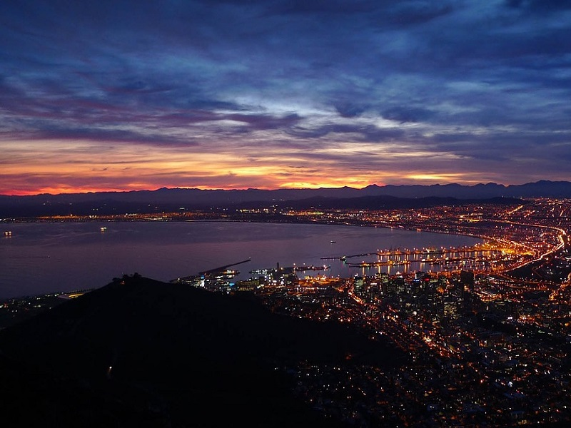 View of Cape Town at night