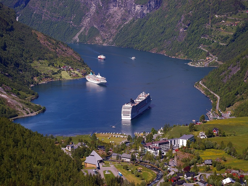 Photo of the Geirangerfjord in Norway