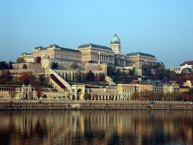 Front shot of Buda Castle, Budapest