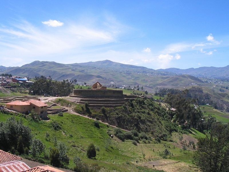 Ingapirca, town and archaeological dig site