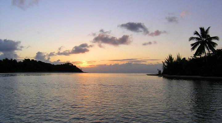 Image of sunset settling over Madagascar