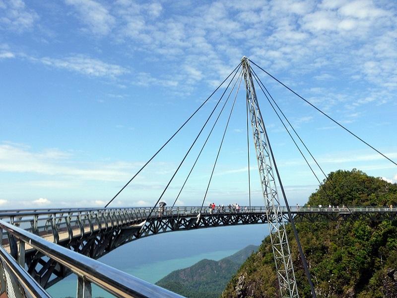 Langkawi suspension bridge, very interesting for tourists.
