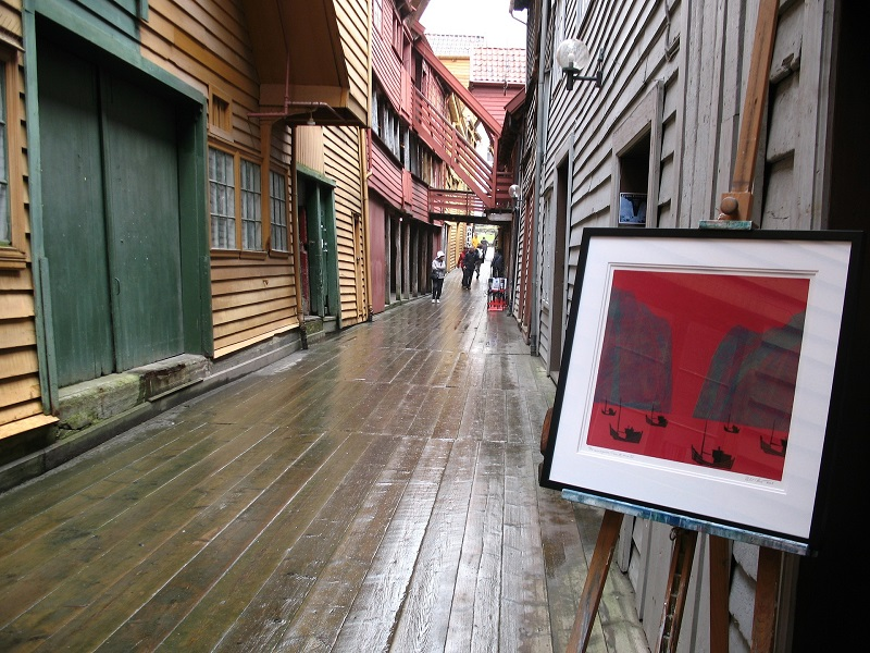Photo of the Wooden street in Bergen