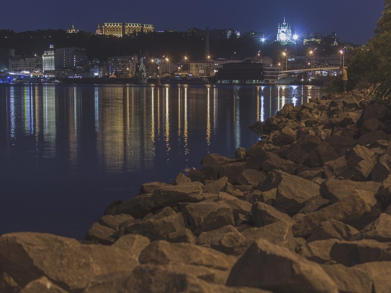 Image of Kiev over the water