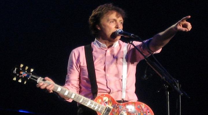 Concert photo of Paul McCartney