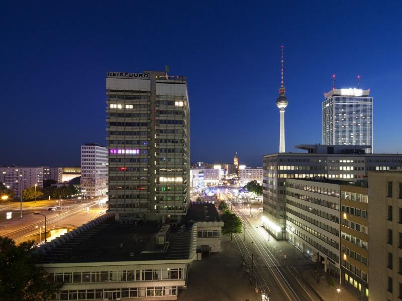 Image of Berlin at night.