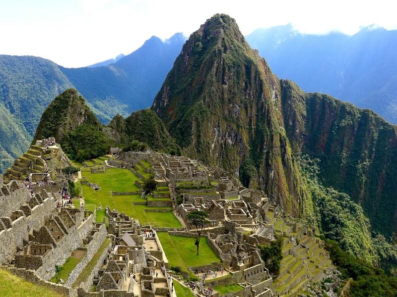 Machu Picchu ruins.
