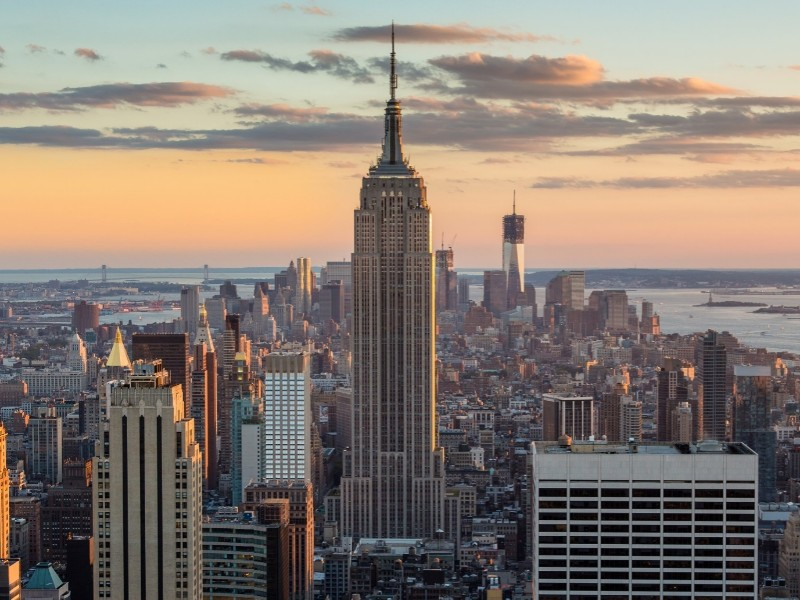 Image of the Empire State building in New York.