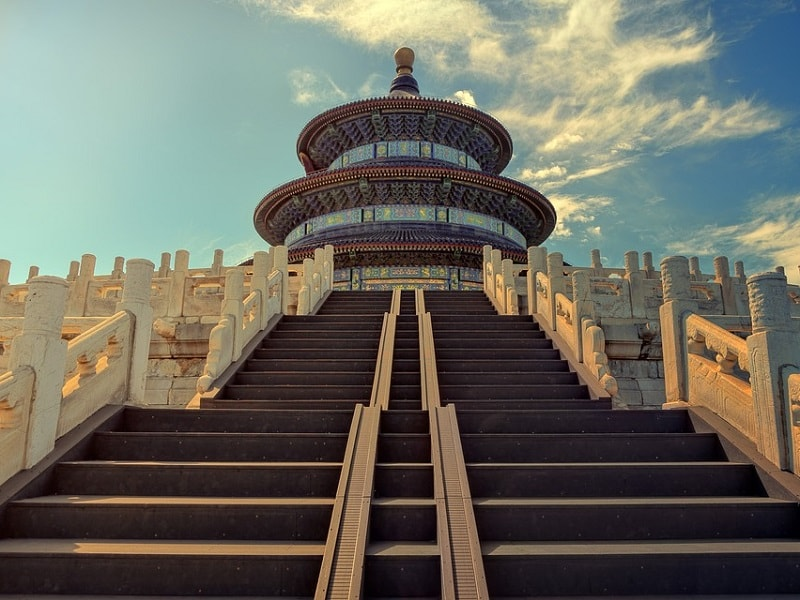 Front image taken at the stairs of the Temple of Heaven.