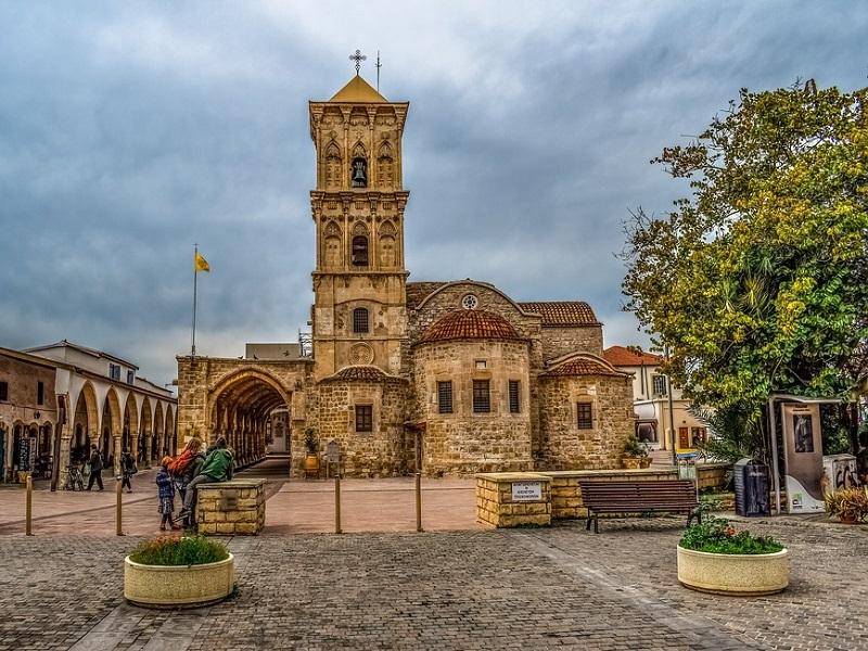 Front view of Saint Lazarus Church in Larnaca.