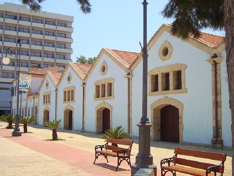 Image of houses in Larnaca Square in Cyprus