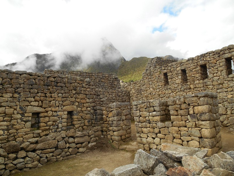 Old buildings and fortifications can still be found in Machu Picchu.