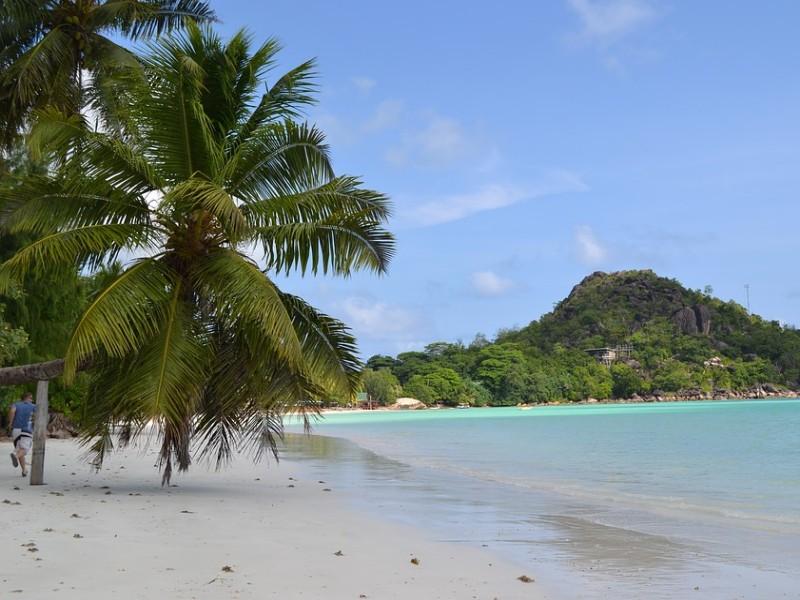 A beautiful beach on a sunny day.