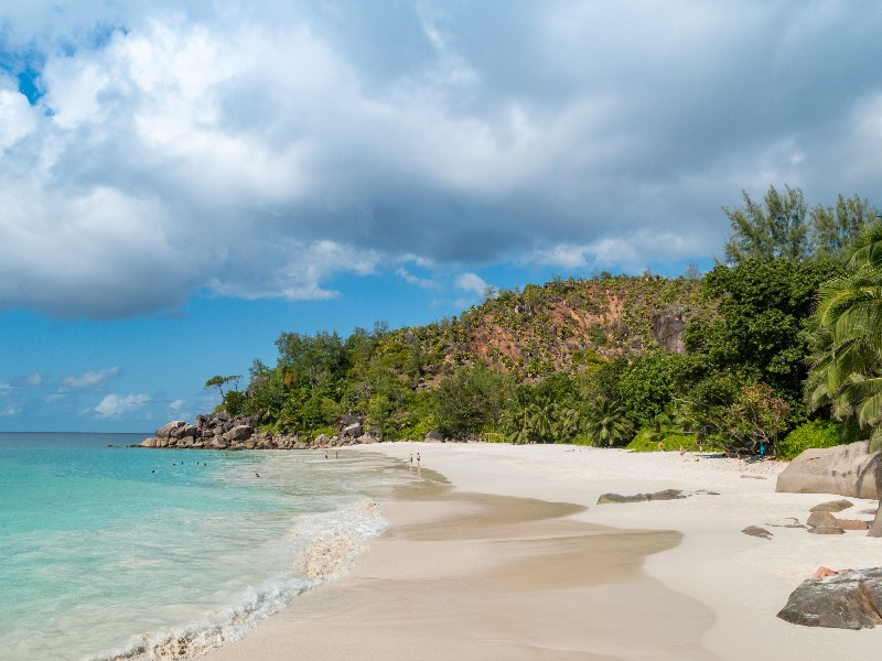 The island is full of wonderful beaches.