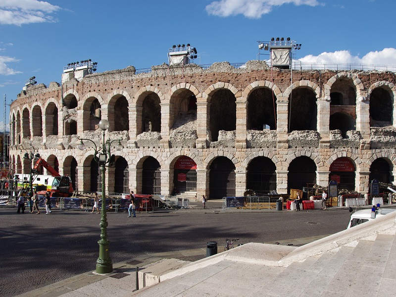 A picture of the Amphitheater in Verona, Italy.